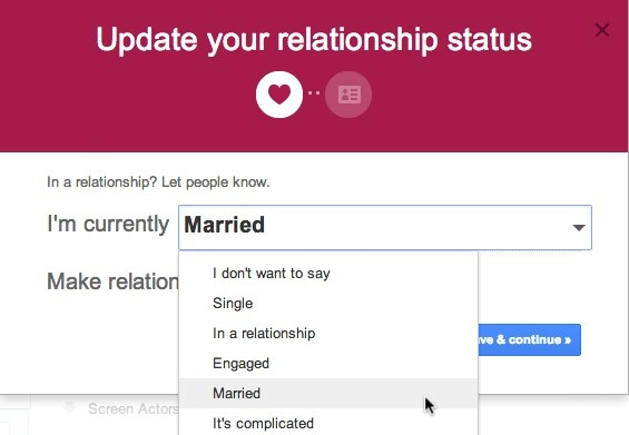 when is the right time to change your facebook relationship status