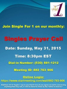 Single For 1 Prayer Call Flyer
